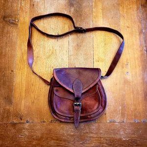 SUPER vintage leather satchel Seal of Oklahoma